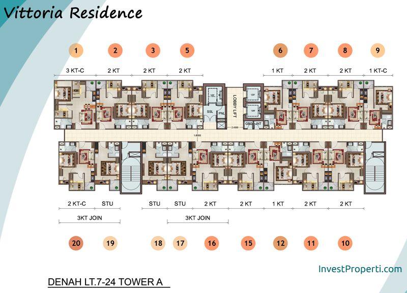 Vittoria Residence Floor Plan Lt 7-12 Tower A