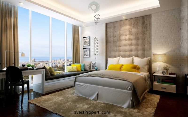 Contoh Design Kamar Studio K2 Park Apartemen Serpong