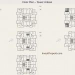 Floor Plan Apartemen K2 Park - Tower Arkose Lt 20-35