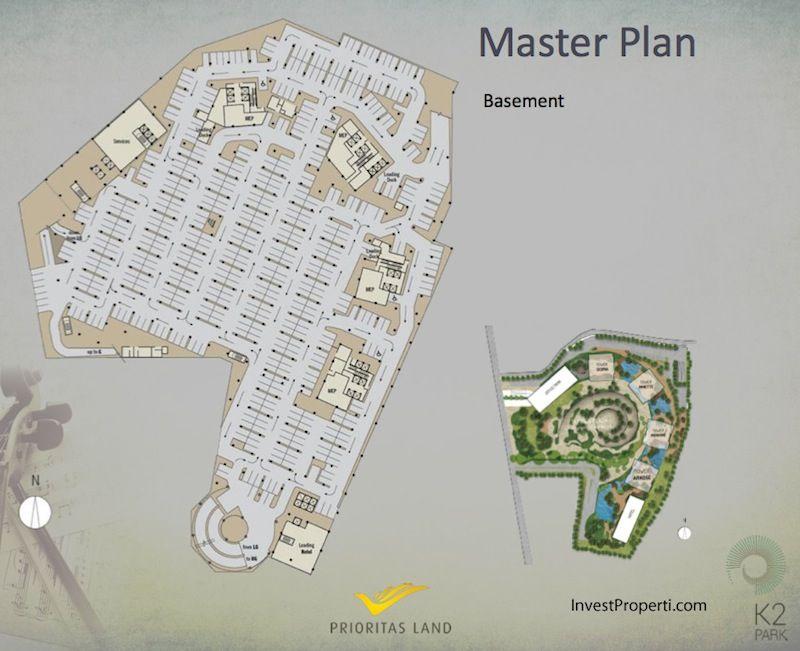 Master Plan Basement K2 Park Gading Serpong