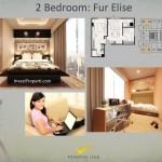 Tipe 2BR Fur Elise Apartemen K2 Park Gading Serpong