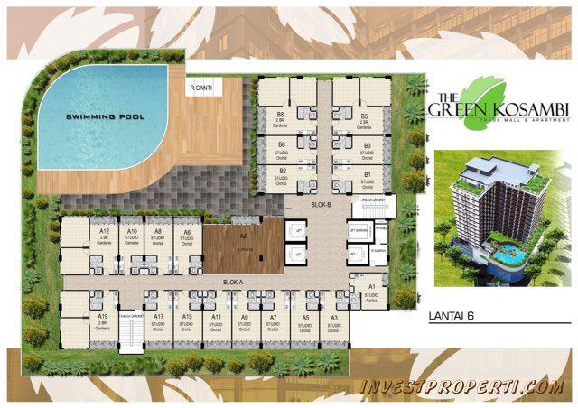 Denah Lantai 8 Apartemen Green Kosambi Bandung