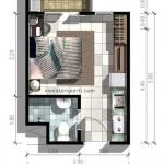 Denah Tipe Studio Puri Orchard Apartment