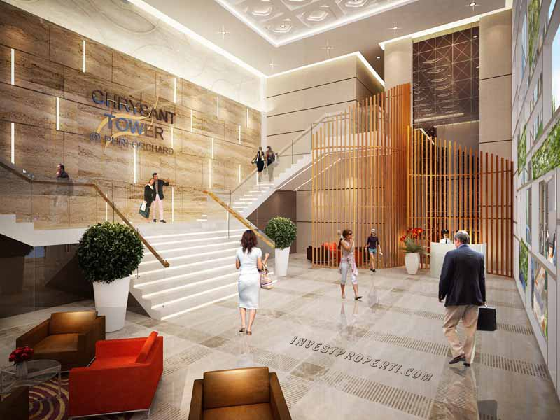 Lobby Puri Orchard Apartment Tower Chrysant