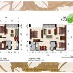 Tipe Unit 2,3BR Green Kosambi Apartemen Bandung