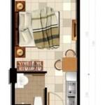 Tipe Unit Studio Apartemen Parkland Avenue BSD