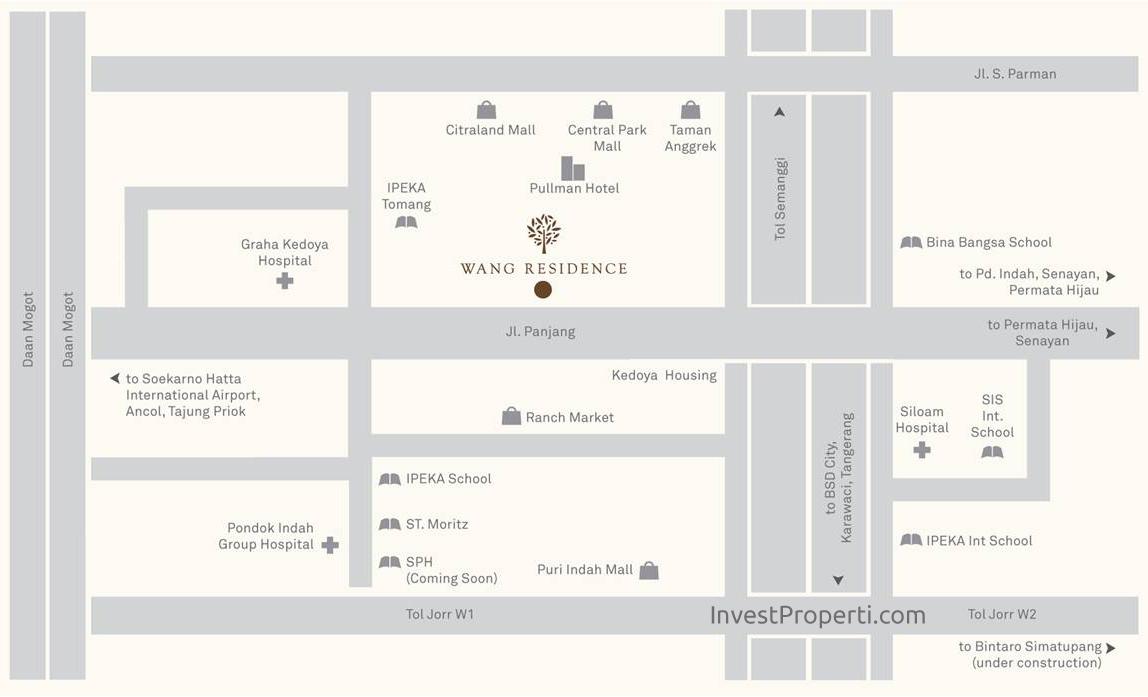 Wang Residence Map Location