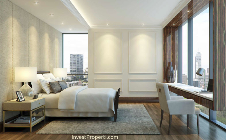 Wang Residence Penthouse Master Bedroom