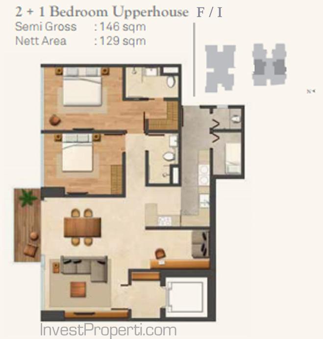 Wang Residence Unit 2BR Upperhouse F-I