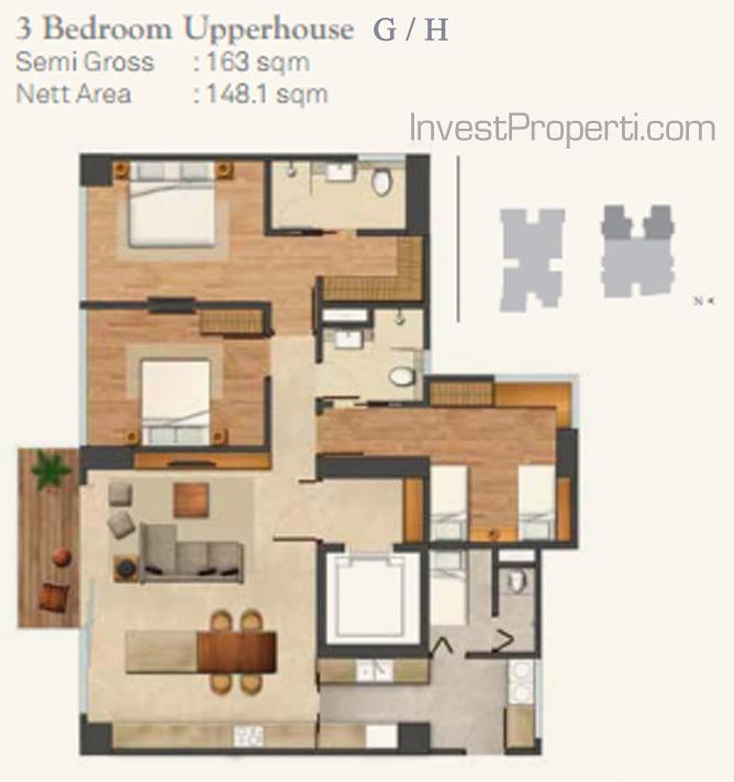 Wang Residence Unit 3BR Upperhouse G-H