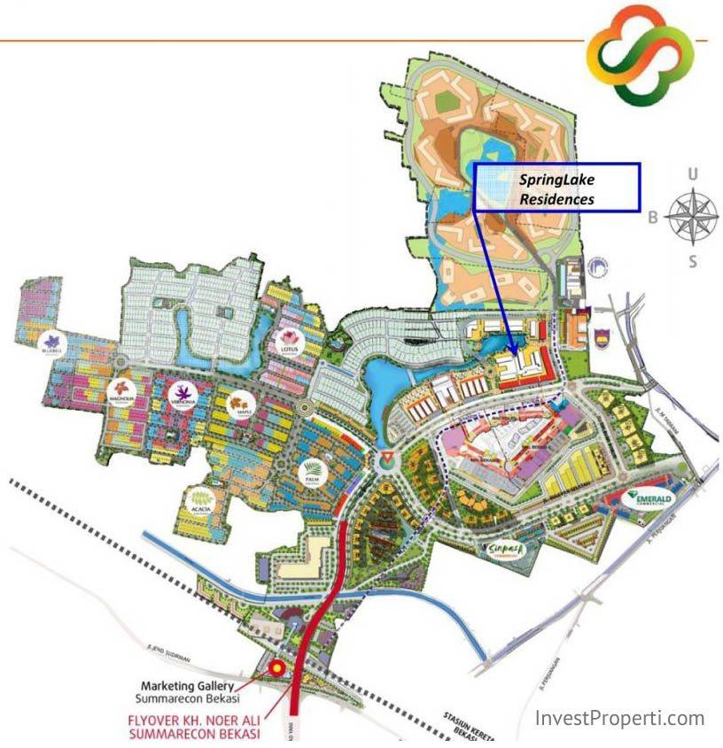 Peta Lokasi Apartemen SpringLake Summarecon Bekasi
