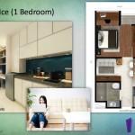 Tipe Ice 1 BR Indigo Bekasi Apartment - Pantry