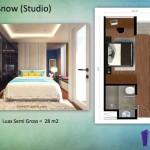 Tipe Snow Studio Indigo Bekasi Apartment