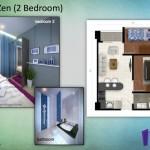 Tipe Zen 2BR Indigo Bekasi Apartment - Bedroom 2