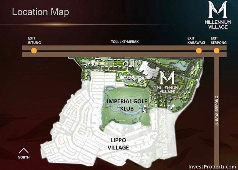 Millennium Village Lippo Karawaci Location
