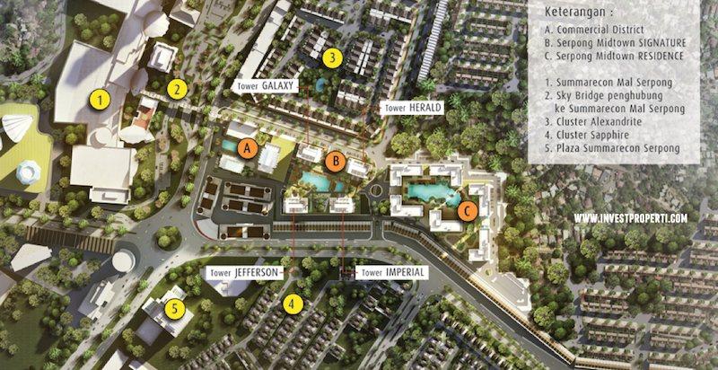 Blok Plan Serpong Midtown Signature