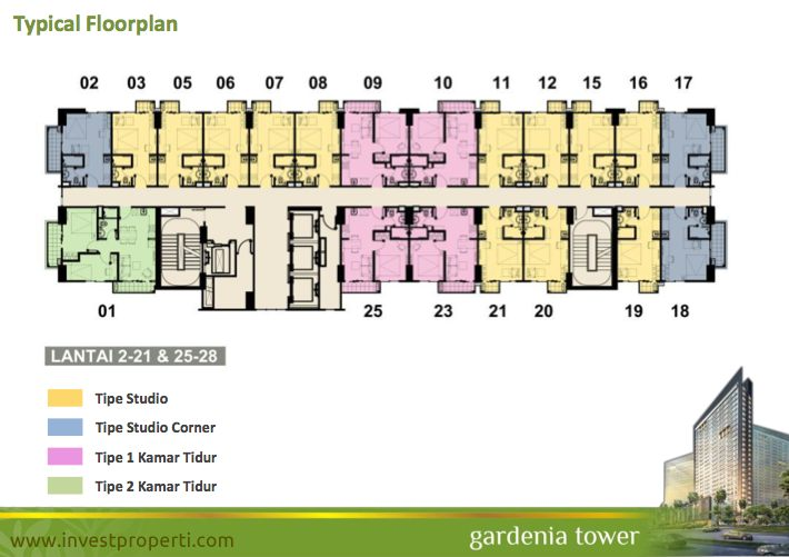 Floor Plan Tower Gardenia Lt 2-28