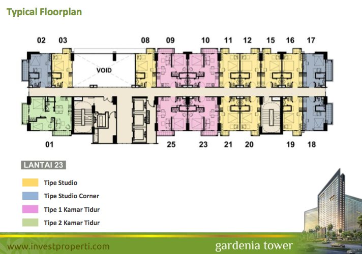 Floor Plan Tower Gardenia Lt 23