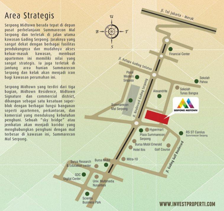 Peta Lokasi Serpong Midtown