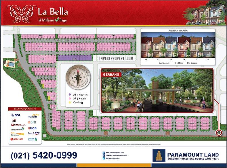 Site Plan Perumahan La Bella Milano Village