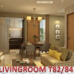 Design Living Room Rumah Cluster Vivacia