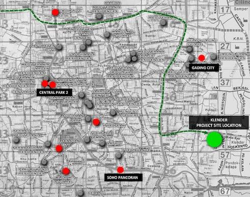 Peta Lokasi Podomoro Park