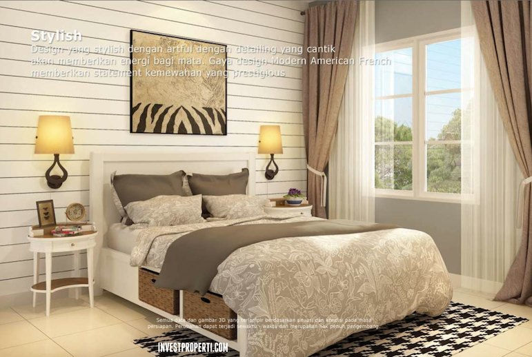 Master Bedroom Design Azura 7 BSD City