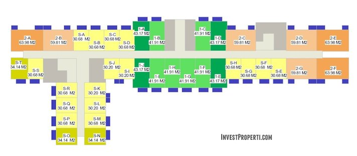 Floor Plan Apartemen West Vista