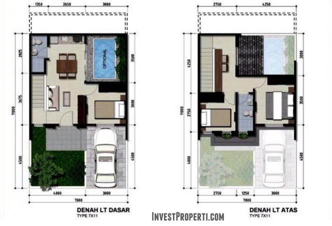 Floor Plan Vanya Park Tipe 7