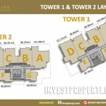 Floor Plan Tower 1 dan 2