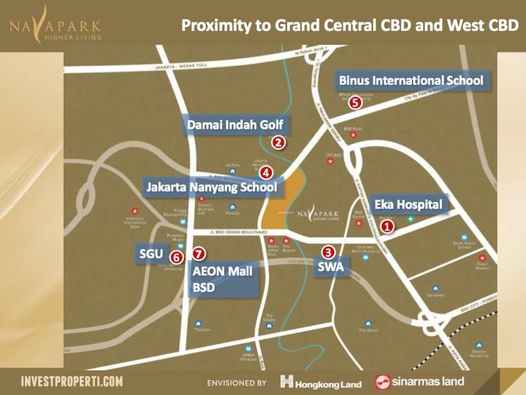Navapark BSD Map