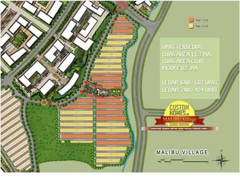 Site Plan Malibu Village House Serpong