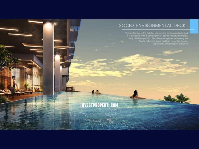 Ancol Seafront Condo Infinnity Pool