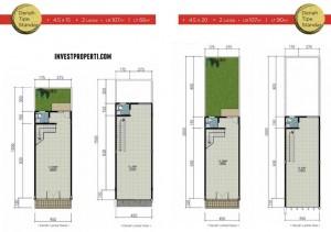 Floor Plan Ruko Garden Boulevard Citra Raya