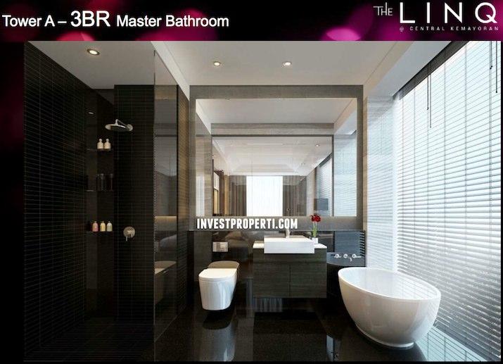 Tower A - 3BR Master Bathroom