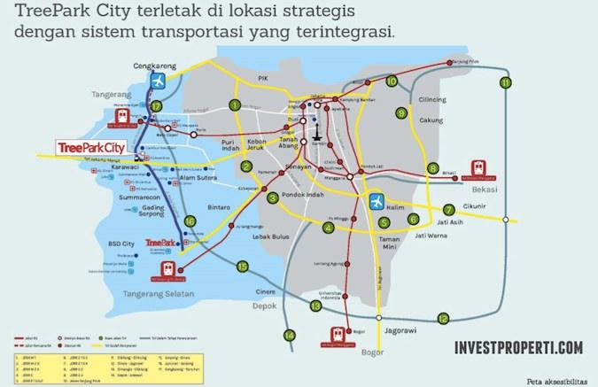 Peta Lokasi Tree Park City Tangerang