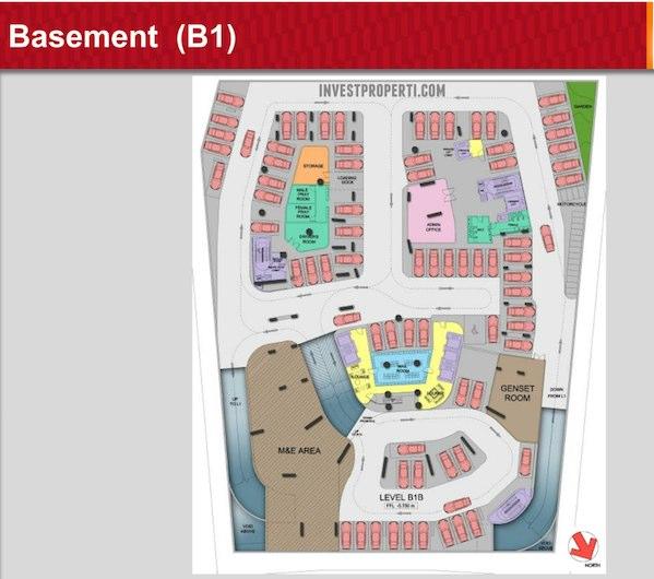 One Velvet Apartment B1 Floor Plan