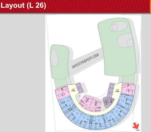 One Velvet Apartment Floor Plan L26