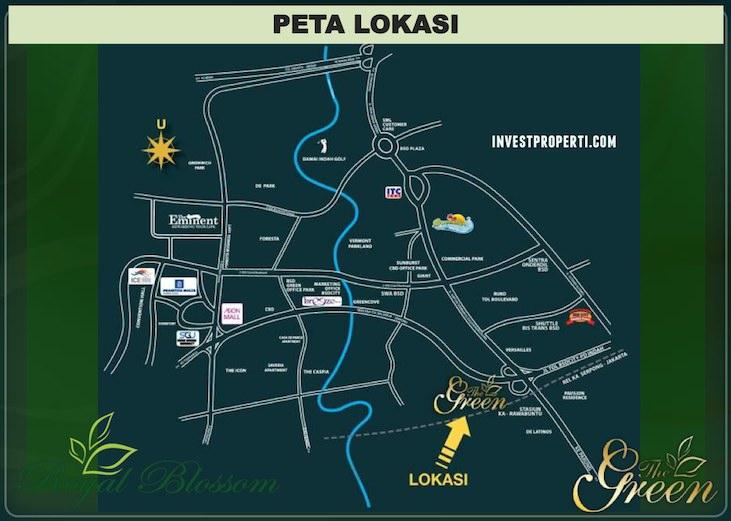 Peta Lokasi Rumah The Green BSD City