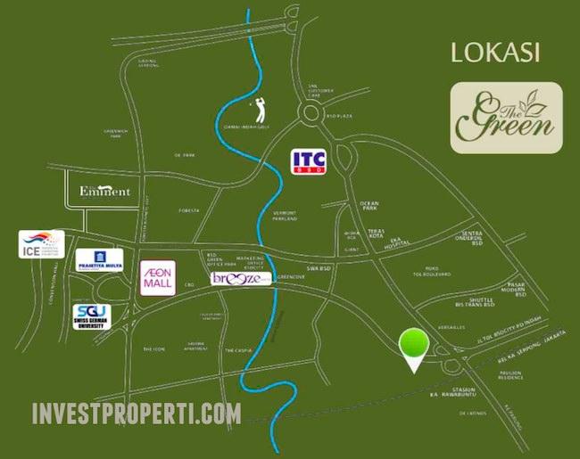 Peta Lokasi The Green BSD City