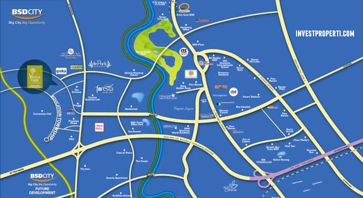 Peta Lokasi Perumahan Vanya Park BSD