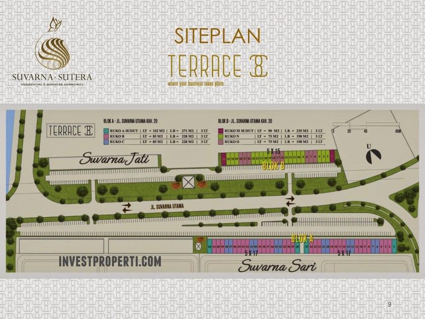 Site Plan Ruko Terrace 8 Suvarna Sutera