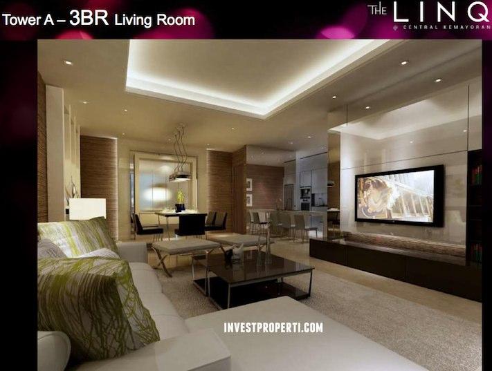 Tower A - 3BR Livingroom