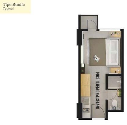 Tree Park City Tangerang - Studio Type