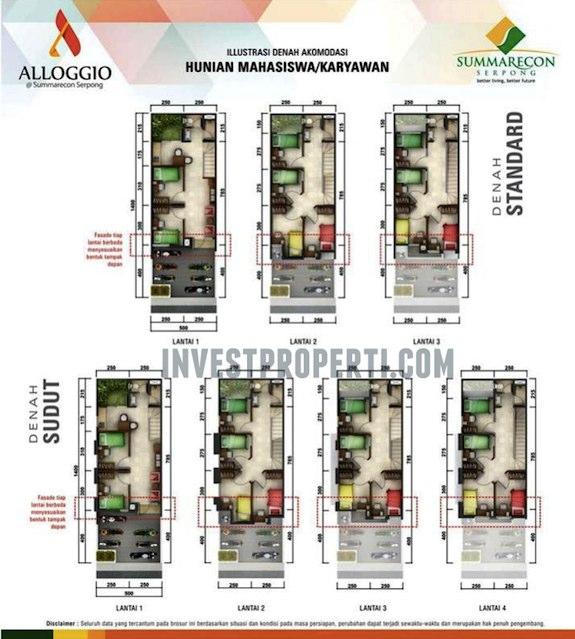 Denah Rumah Cluster Alloggio Scientia