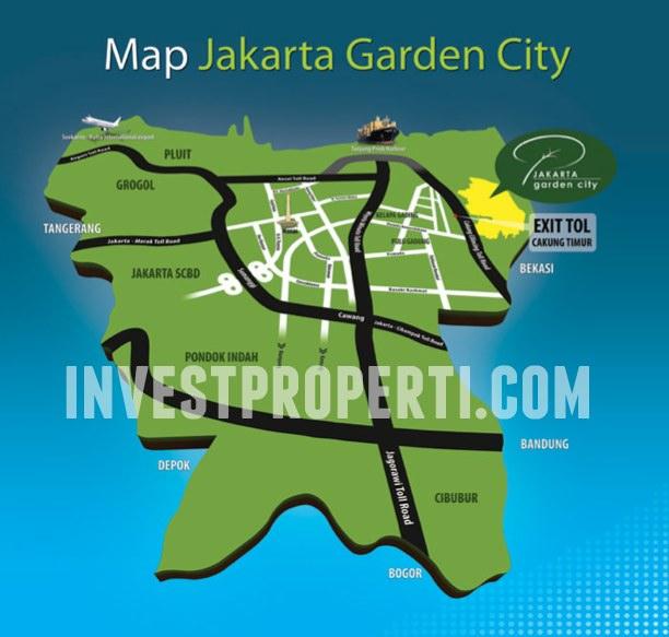 Map Jakarta Garden City