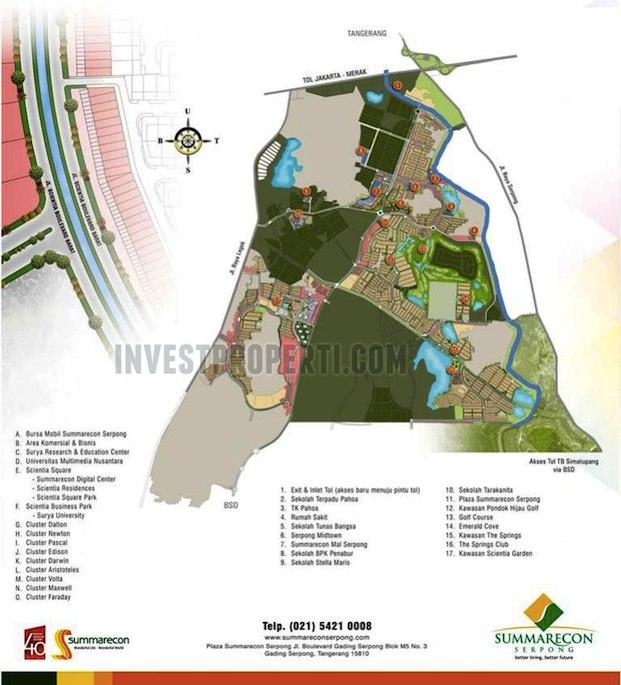 Peta Lokasi Scientia Garden Serpong