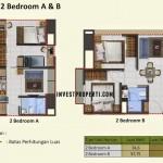 Tipe 2 Bedroom A, B