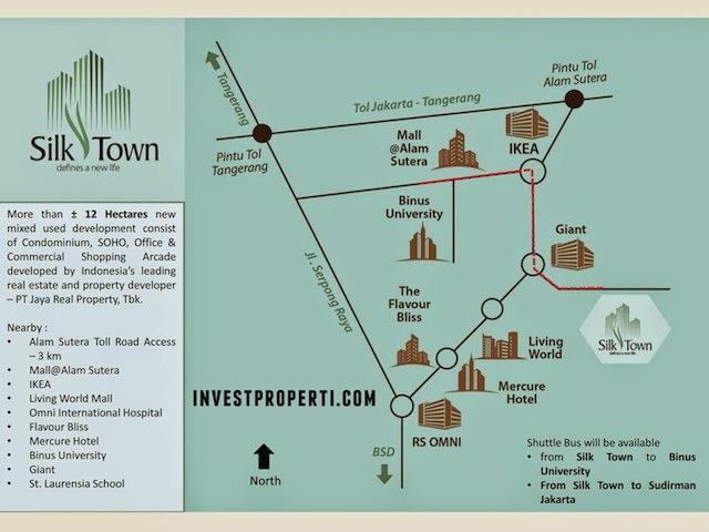 Silk Town Alam Sutera Apartment Map