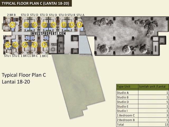 Floor Plan C 18 - 20